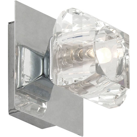 Applique murale couloir lampe salon éclairage cristal cristal spot lampe chrome Globo 5692-1