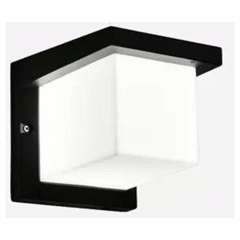 Applique murale d\'extérieur à LED Moderne étanche IP65 Applique murale en aluminium Corridor Downlight Escalier / Balcon / Jardin / Porche Noir Blanc Chaud 26cm (6000K Blanc Froid) [Classe énergétique A +] Rectangle
