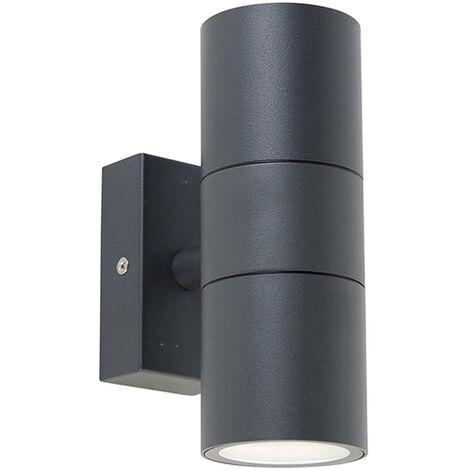 Applique murale d'extérieur anthracite IP44 - Duo Qazqa Moderne Luminaire exterieur IP44 Rond