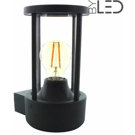 Applique murale d'extérieur diffusion 360°pour ampoule LED E27 (tradi) | Finition Anthracite - Puissance (en Watts) -ampoule- - Température de couleur (ampoules)