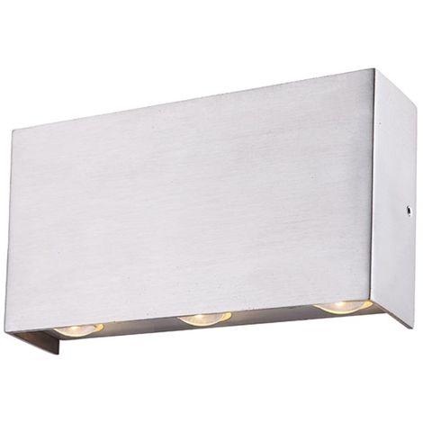 Applique murale d'extérieur LED spot de terrasse ALU lampe éclairage en verre Globo 34177-6