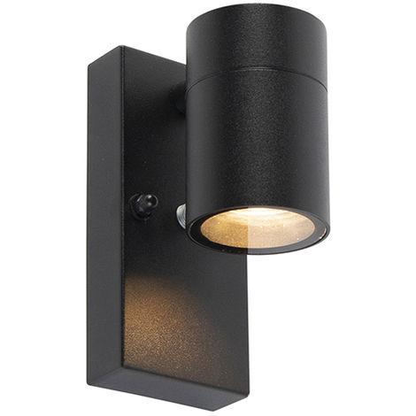 LUCEO Mat Noir Carré Outdoor Extérieur IP44 Éclairage DEL Mur Luminaire 7 W