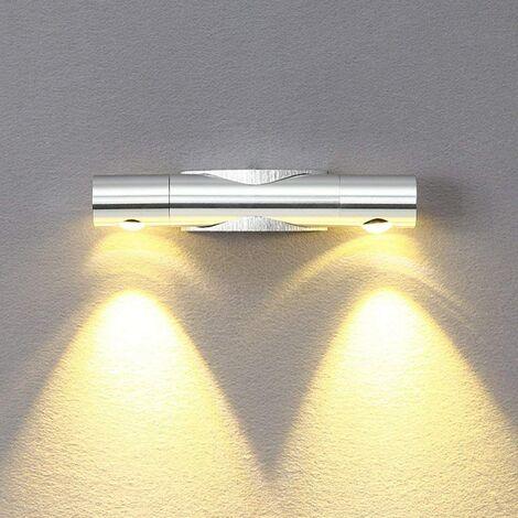 Applique murale d'intérieur à LED 6W, blanc chaud, applique murale moderne en aluminium, installation vers le bas, rotation réglable à 360 °, convient au couloir de la chambre