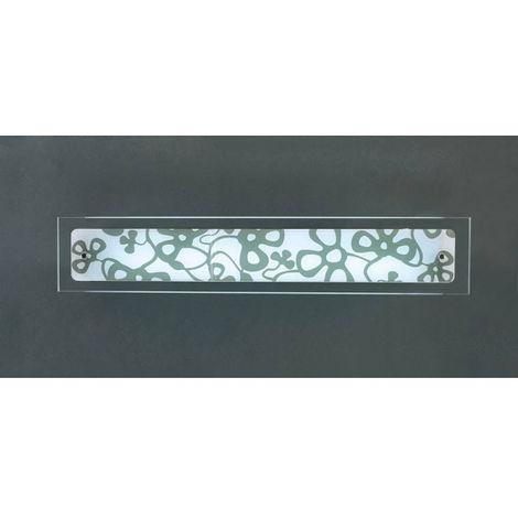 Applique murale Euphoria 1 Ampoule T5 Medium Bar, chrome poli/blanc opal verre