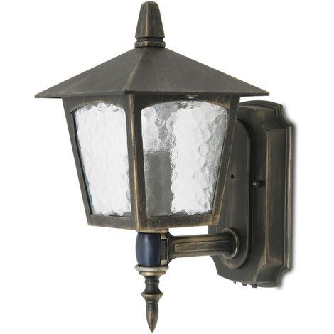 Applique murale Détecteur Lampe de jardin Lampe de terrasse blanche Spot mural