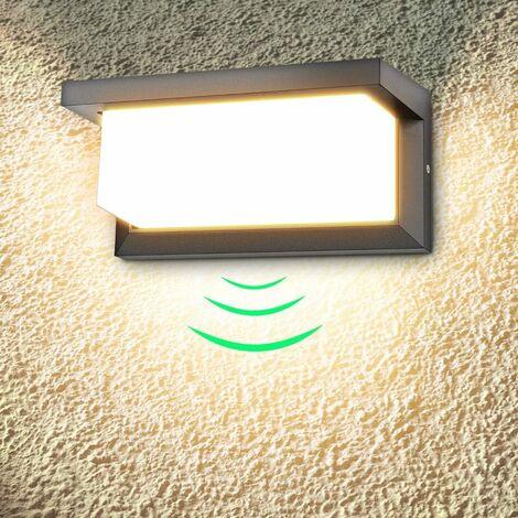 Applique murale extérieure LED 18W, applique murale extérieure étanche moderne, applique murale LED blanc chaud 3000K, IP65 étanche 1260lm