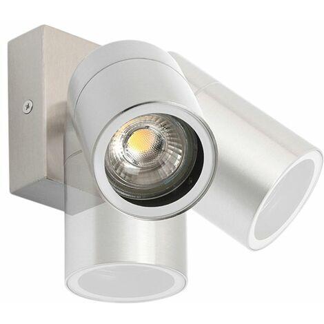 Applique murale extérieure en acier IP44 rotative et inclinable - Solo Qazqa Moderne Luminaire exterieur IP44 Cylindre / rond