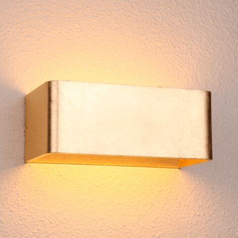 Applique murale feuille d'or LED - Quadra 20 cm
