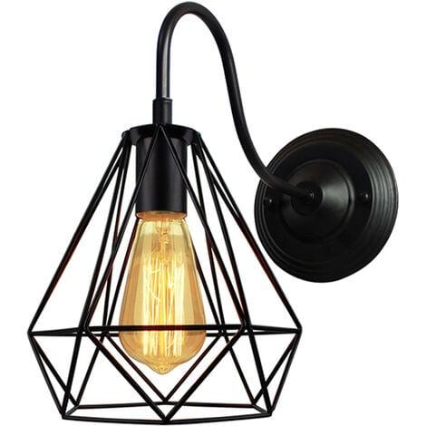 Applique Murale Industrielle E27 Abat-jour Cage Lampe Suspension Plafonnier Vintage Luminaire Décoration Rétro Applique Intérieure pour Salon Cuisine Couloir Chambre Café Bar