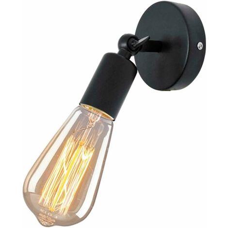 Applique Murale Industrielle en Métal fer , Lampe Rétro Edison Douille E27 Loft Éclairage Vintage pour pour Chambre, Salon, Restaurant, Couloir ( Noir )