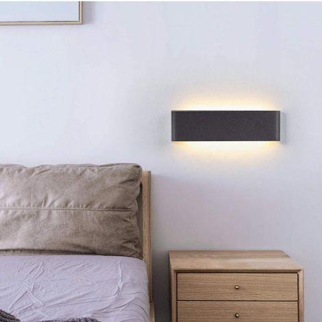 Lampe Murale Blanc Chaud 3000K 750LM AC 230V Applique Murale LED Int/érieure 12W Kimjo Luminaire Mural Moderne en Acrylique Aluminium Up Down Eclairage pour Salon Chambre Chevet Couloir Escalier