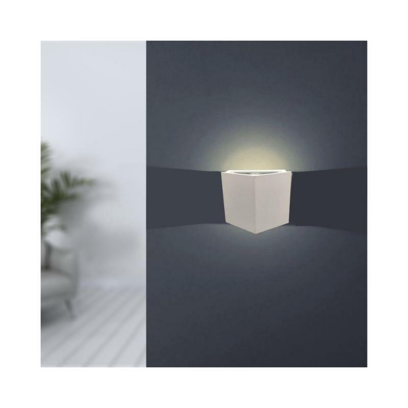Applique Murale Design Blanche LED IP44 12W Maison - Blanc Neutre 4000K - 5500K - SILAMP
