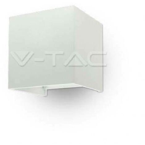 Applique Murale LED 6W Carre Blanc Ip65 Vt-759