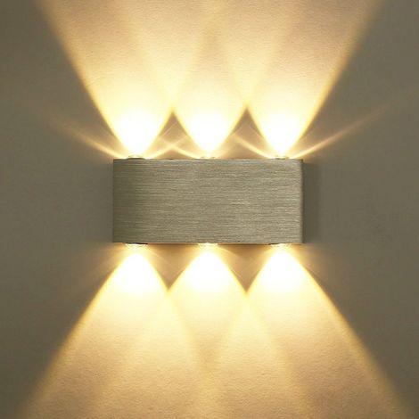 DEL Lampe murale salon chambre Diele Couloir Bureau Lampe Up /& Down Escalier lumière