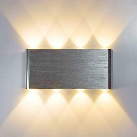 Applique Murale LED 8W Moderne Aluminium Lampe 8 LED ...