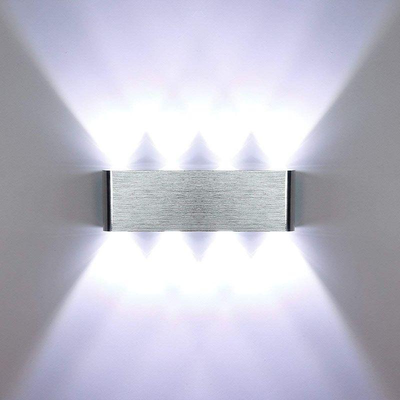Applique Murale LED 8W Moderne Aluminium Lampe 8 LED Interieur Éclairage Lumières pour Cuisine Escalier Chambre Couloir Salon Les Lampes de Nuit