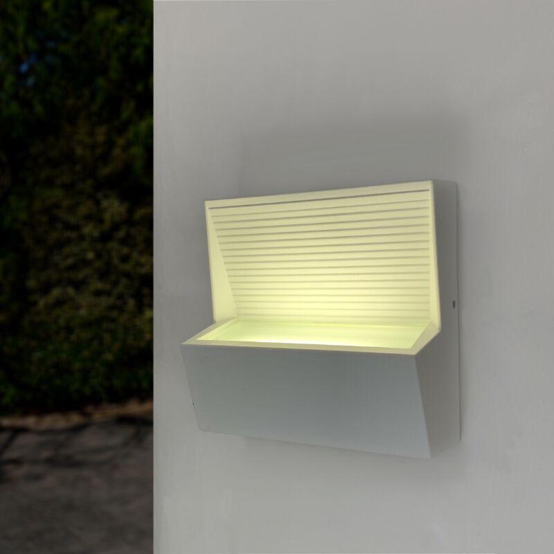 Applique murale LED Rectangulaire 7W IP44 BLANC - Blanc Neutre 4000K - 5500K - SILAMP