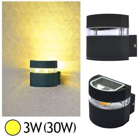 Applique murale LED COB 3W(30W) IP54 Blanc chaud Demi rond