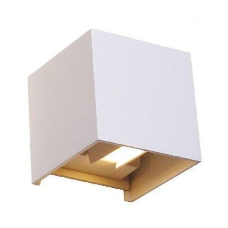 Applique Murale Led 7w 60w Ip54 Blanc Jour 4000k Cube Blanc 70373