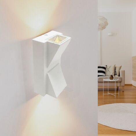 Applique murale LED Double Faisceaux 2x3W IP44 BLANC - Blanc Neutre 4000K - 5500K