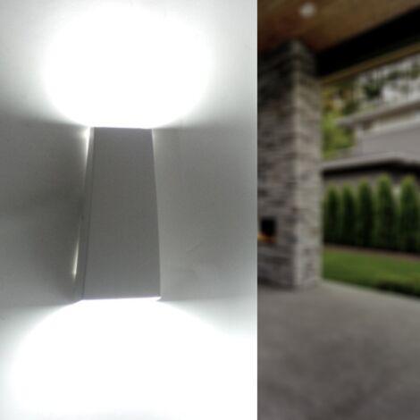 Applique murale LED Double Faisceaux 7W IP44 BLANC