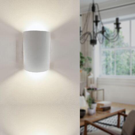 Applique Murale Led Double Faisceaux Cylindrique 6w Ip44 Blanc