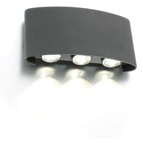 Applique murale LED extérieur SIX Blanc naturel