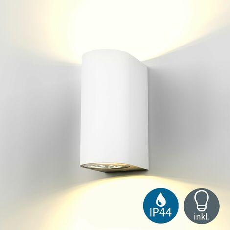"""main image of """"Applique murale LED extérieur Volans blanche - luminaire extérieur moderne IP44"""""""