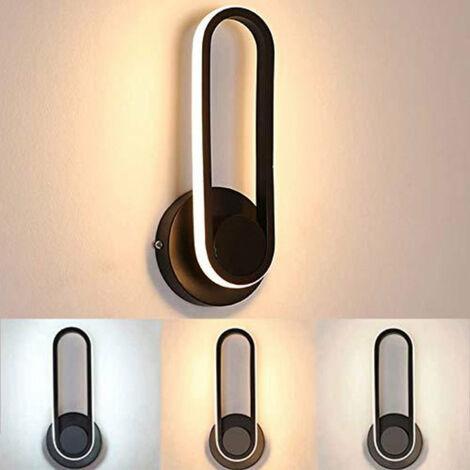 Applique Murale LED Intérieur 12W, Lampe Chevet Murale Dimmable Rotatif à 330 ° Moderne Design Éclairage pour Chambre à Coucher Maison Couloir Salon Escalier