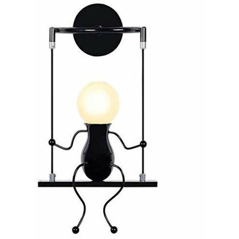 Applique Murale LED Interieur, Swing Enfants Lampe de Chevet, Lampe Murale Interieur Créative Convient pour Salon Couloir