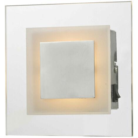 Applique murale LED salon angulaire éclairage de salle à manger lampe de projecteur en verre chromé Esto 745026
