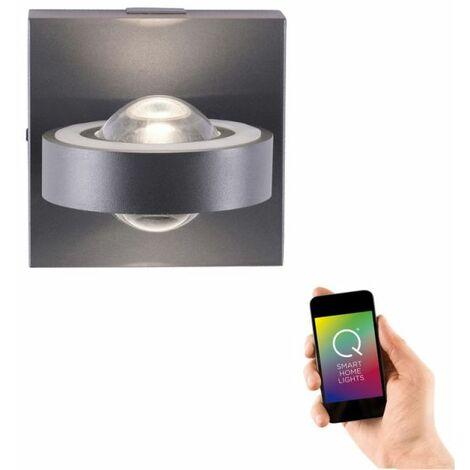 Applique murale LED Sophia Gris Anthracite Smart Home télécommande RGB Zigbee - Noir