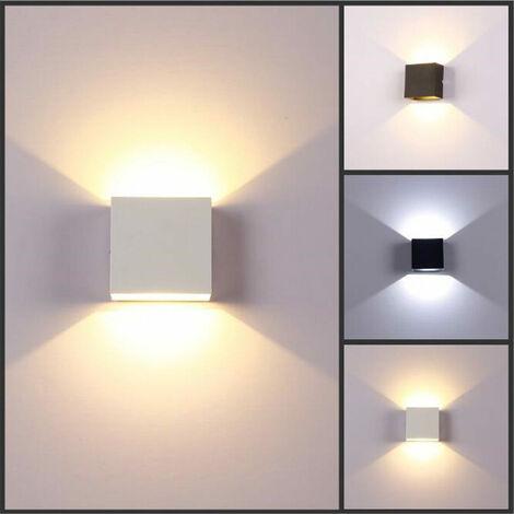 Applique murale moderne à LED 6W vers le bas lampe applique spot lumière maison chambre luminaire blanc (blanc) lumière blanche blanc 白光