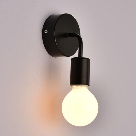 Applique Murale Noire Industrielle Vintage En Fer , Loft Lampe Luminaire  Retro Loft E27 Pour Maison