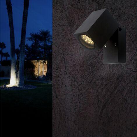 Applique Murale Noire LED IP44 Orientable pour ampoule GU10 - SILAMP