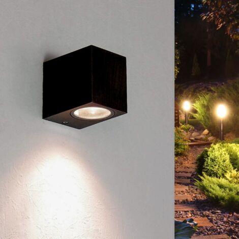 Applique Murale Noire LED Rectangulaire IP44 pour ampoules GU10 - SILAMP