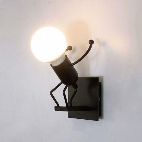 """main image of """"Applique Murale Robot,Créative Little Iron Man Wall Light,Rétro Cartoon Appliques,pour Bar Chambre Cuisine Restaurant Café Couloir"""""""