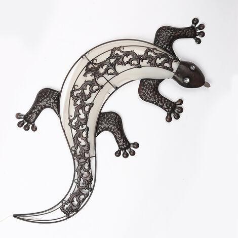 Applique murale solaire à LED Gecko Design Earth Spike Décoration de jardin Ménage International 70331
