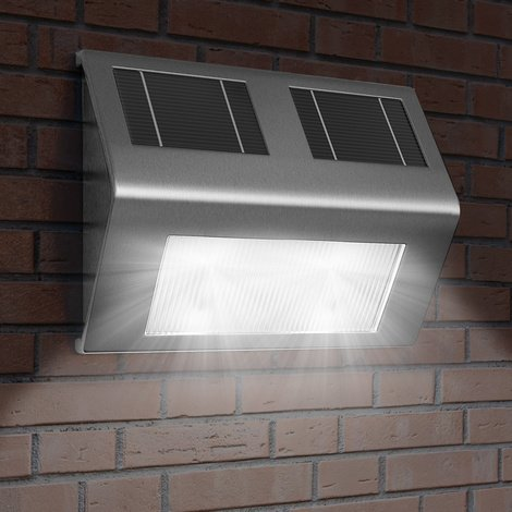 Applique Murale Solaire Lot De 4 Lumiere Energie Solaire