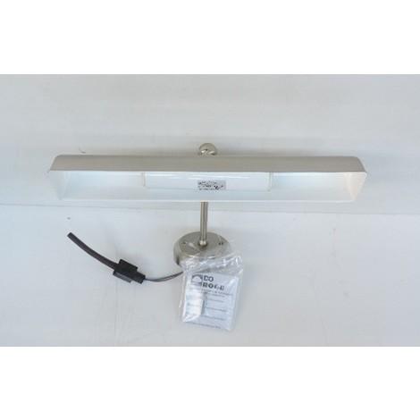 Applique Murale Tableau Nickel Mat 300x185mm Pour 2 Lampes E14 230v