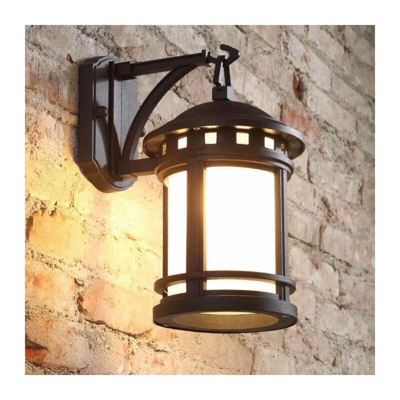 Applique Murale Vintage Luminaire Extérieur Lampe industrielle Metal rétro  Fer Mur de feu éclairage 18×24×31CM