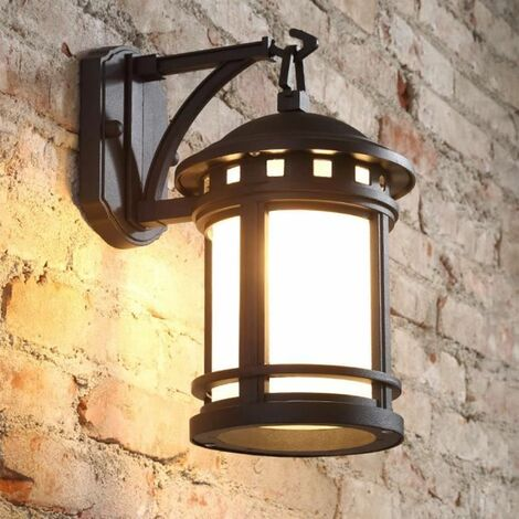 Applique Murale Vintage Luminaire Extérieur Lampe Industrielle Metal Rétro  Fer Mur De Feu éclairage 18×