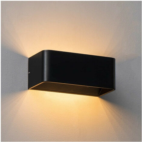 Applique noire LED compatible avec variateur - Quadra