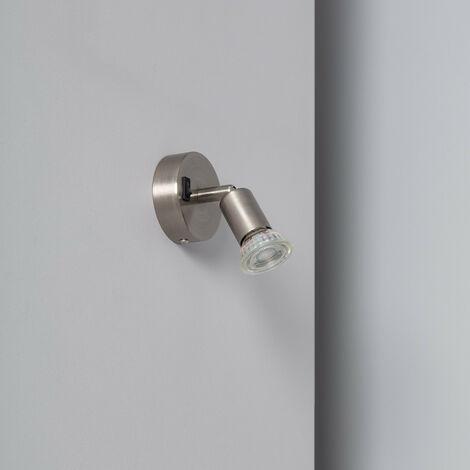 Applique Orientable Oasis 1 Spot Argenté avec Interrupteur Argent