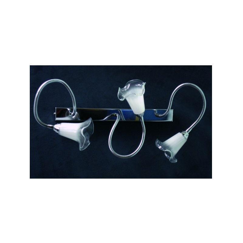 Applique plafoniera ba gabry a3 finitura metallo cromo lucido ba