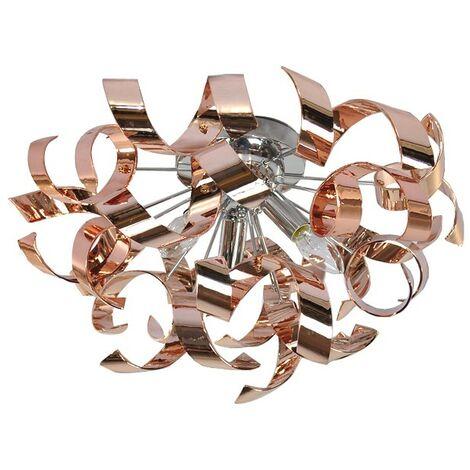 Applique Plafonnier ou mural luminaire design métal cuivré 3 lumières