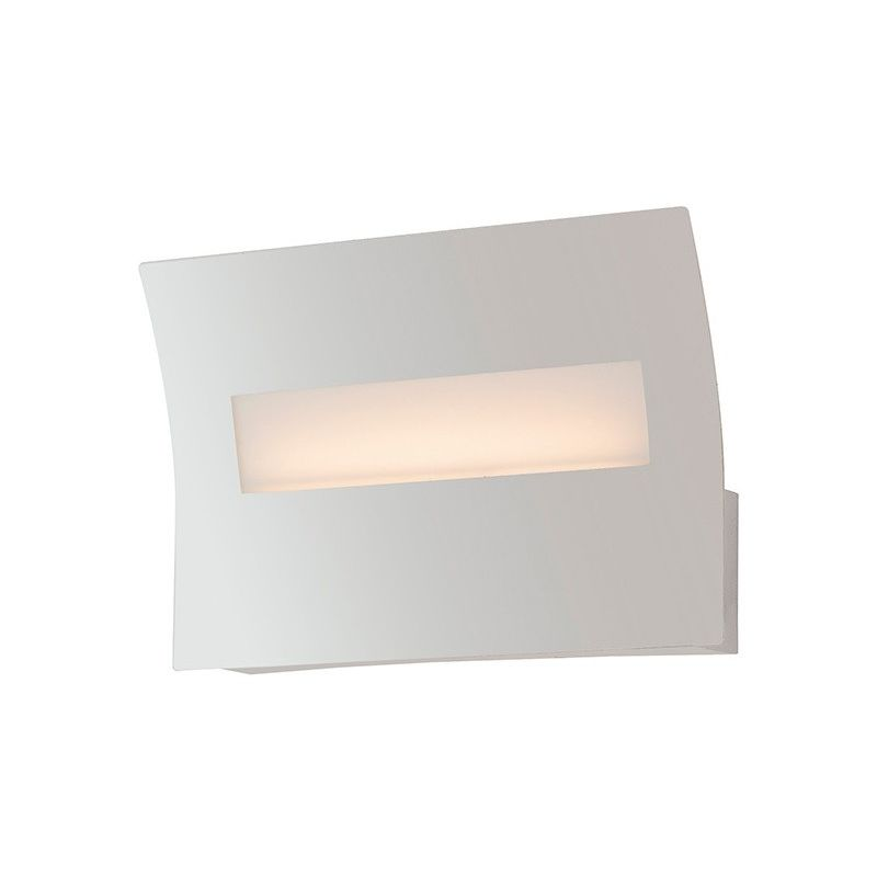 Led horizon ap applique rettangolare metallo bianca lampada da