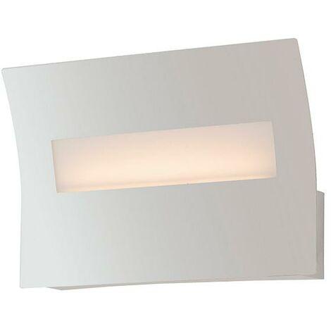 Applique Rettangolare Metallo Bianca Lampada Da Parete Led 6 Watt Luce  Naturale Ambiente Led-horizon-ap20