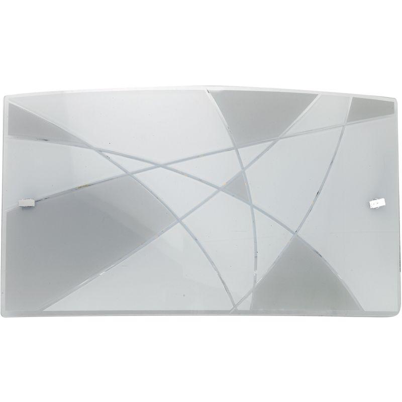 I maxima ap applique rettangolare vetro incisione bianco