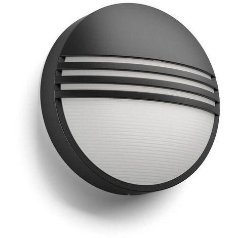 Applique ronde extérieur Yarrow LED IP44 H21 cm - Inox - Anthracite